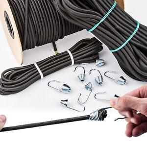 6-8-10mm-EXPANDERSEIL-Spiralhaken-Gummiseil-Gummileine-Spannseil-Haken-bis-50m