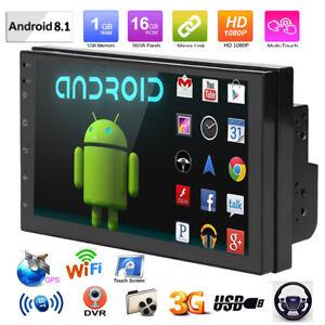7-034-Android-8-1-AUTORADIO-mit-GPS-Navigation-NAVI-BLUETOOTH-WIFI-DOPPEL-2-DIN