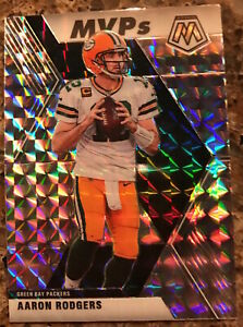 2020-PANINI-MOSAIC-AARON-RODGERS-SILVER-PRISM-MVPs-NO-300-GREEN-BAY-GORGEOUS