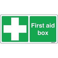 First Aid Box Sign 200x100mm Self-adhesive Vinyl Sticker