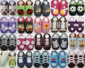 MINISHOEZOO-Pantofole-Suola-Morbida-Pelle-Bambino-Unisex-Scarpe-Misure-Neonati