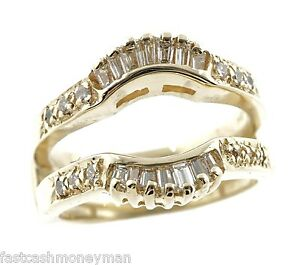 Image Is Loading HB 14K DIAMOND SOLITAIRE ENGAGEMENT WEDDING RING SLEEVE
