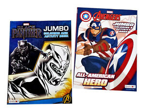 Black-Panther-amp-The-Avengers-Kids-Coloring-Book-and-Activity-Books-Set-of-2-NEW