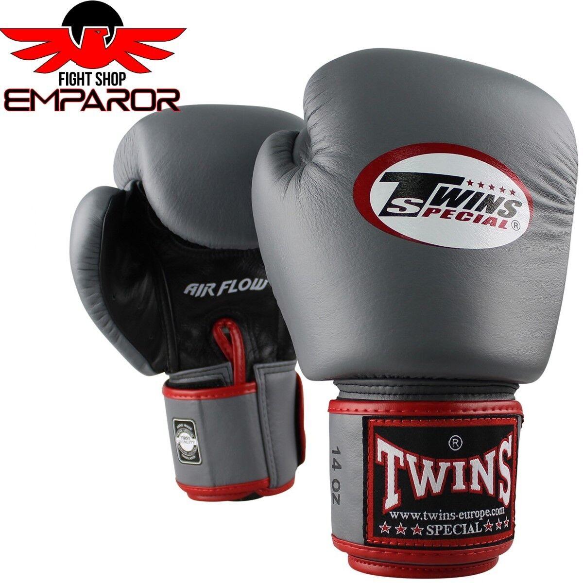 Twins Special Boxhandschuhe BGVL 3 AIR Grau Thai Boxen Boxen Boxen Handschuhe 10-16 oz Leder 97962f