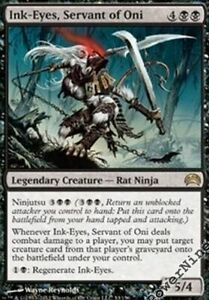 1-PreCon-Ink-Eyes-Servant-of-Oni-Black-Planechase-2012-Mtg-Magic-Rare-1x-x1