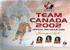 2002 Toronto Sun Olympic Hockey Pin Set & Album (24)