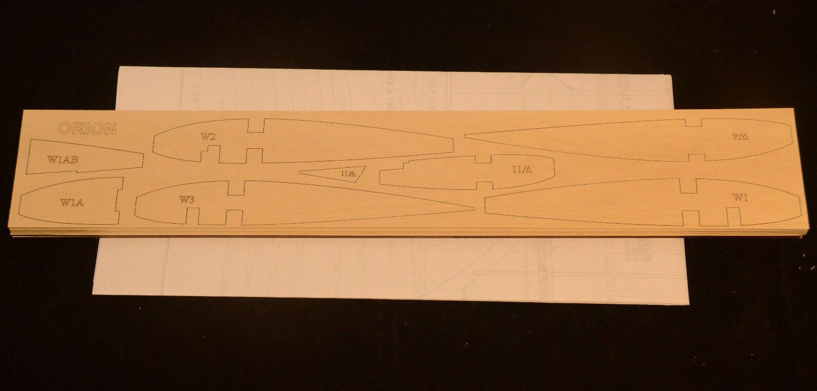Sport Pattern ORION Laser Cut Short Kit, Plans & Instruction 68 in. wing span