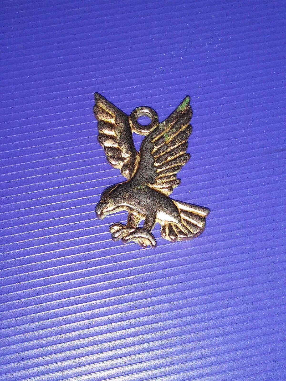 Vintage 70s 10k Gold Plated Eagle Charm