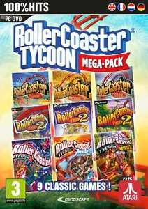Rollercoaster-Tycoon-Mega-Pack-PC-DVD-New-amp-Sealed