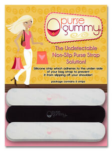 Purse-Gummy-Stop-Strap-Slips-Keep-your-bag-amp-purse-secure-Non-slip-grip-strip