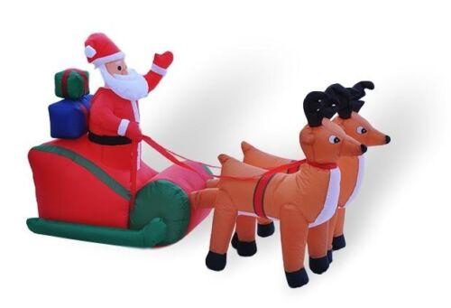 POP-UP Père Noël avec traîneau Moteur Ventilateur Extérieur Décoration Noël