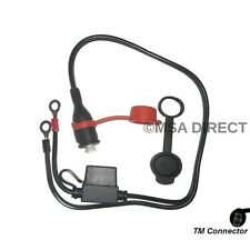 Optimate / Accumate 12v Weatherproof Fused Eyelet Connection Lead (TM71)