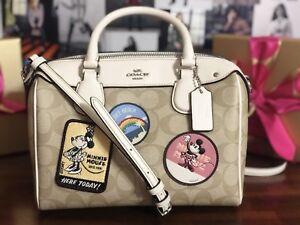c8c7eb0fb68 Coach DISNEY X MINNIE MOUSE MINI BENNETT SATCHEL Crossbody Handbag ...
