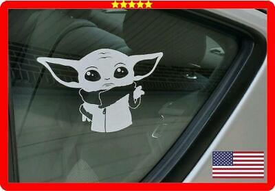 Sticker car truck mandalorian Star wars jedi disney Baby Yoda Vinyl decal