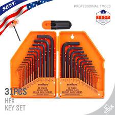 Allen Wrench Hex Key Set 31pc Set Metric Amp Sae Standard Short Long Arm Crv Steel