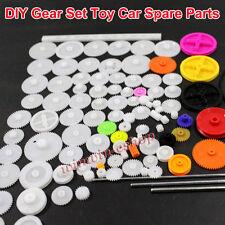 Plastic Motor Gear Kit Set Wheelshaftaxlesbeltswormrack For Diy Car Robot