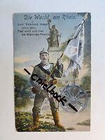 AK Farb-Litho - Soldat mit Fahne - von 1915 - 1. WK - (R03