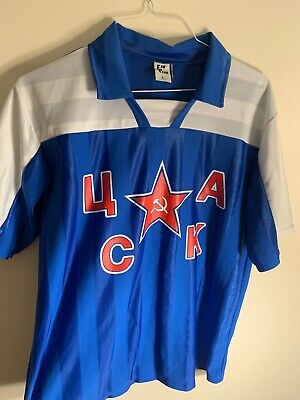HC CSKA Moscow KHL Russian Professional Hockey RED T-Shirt NEW Handmade