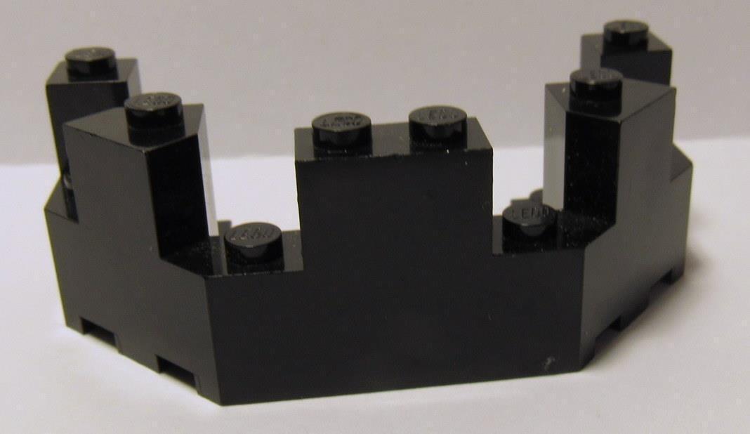 LEGO PART 6066 DARK BLUISH GREY CASTLE TURRET TOP 4 X 8 X 2 1//3