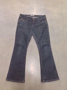 Womens Dorothy Perkins 'bootcut' Jeans Dark Navy Uk12s Great Condition QualitäT Und QuantitäT Gesichert