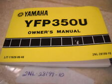 OEM Yamaha 1987 YFP350 Owners Manual 15 Chapters 2NL-28199-10