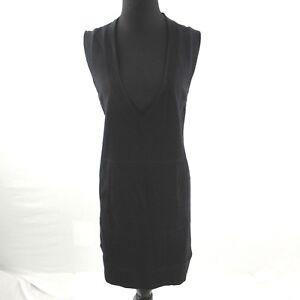 Norma-Kamali-Sweatshirt-Dress-Womens-Medium-Black-Sleeveless