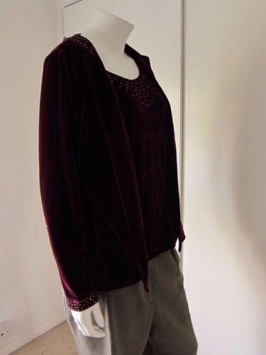 Factory Xs Sequin Quaker Combo Feel Cardigan Velvet Size Tank Purple Twinset aqwUdS