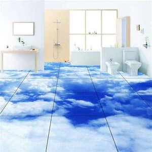 Details About Heavy Cloud Blue Sky 3d Floor Mural Photo Flooring Wallpaper Home Wall Decal