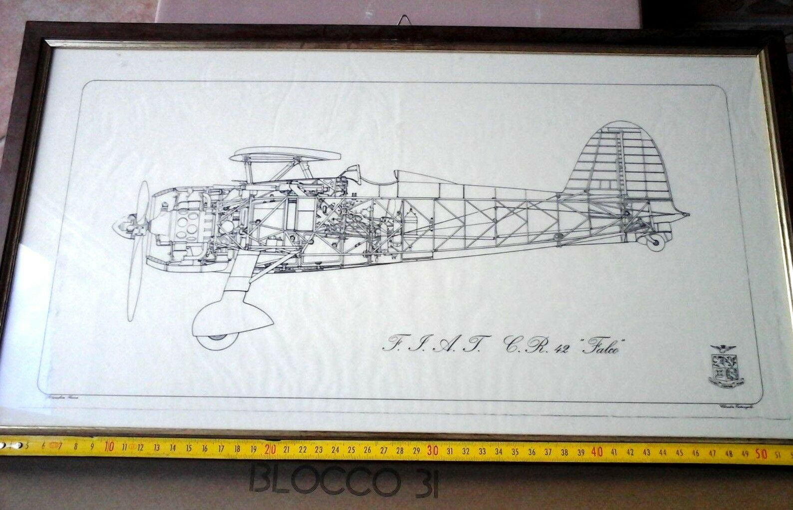 F.i.a.t. c.r.42  Falco  - Original Picture of the Regia Aeronautica