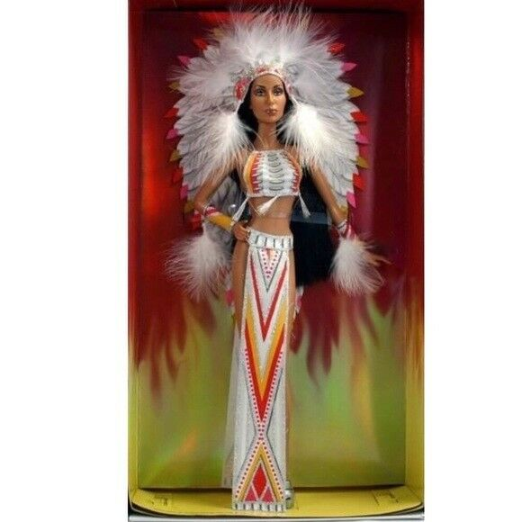 Años 70 Cher Bob Mackie Barbie Collector-negro LABEL
