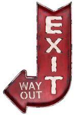 Ausgang Schild Red Exit Vintage Way Out Bar Diner Werkstatt Garage