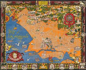 Berkeley-Oakland-Alameda-East-Bay-1930-pictorial-map-POSTER-50325