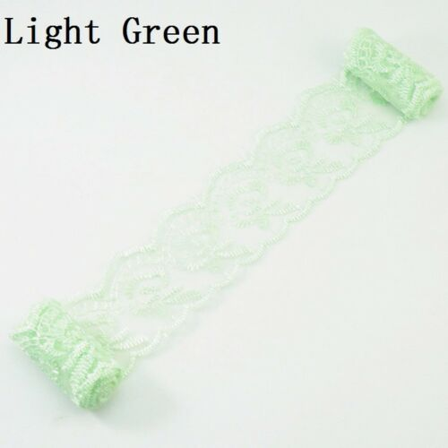 5 Meters Sheer Floral Embroidered Lace Trim Wedding Sewing Craft Sew Ribbon Long