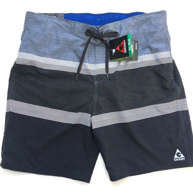 87fc28786b Gerry Mens XL Swim Shorts Trunks Quick-dry UPF 50 Black/gray Pockets ...