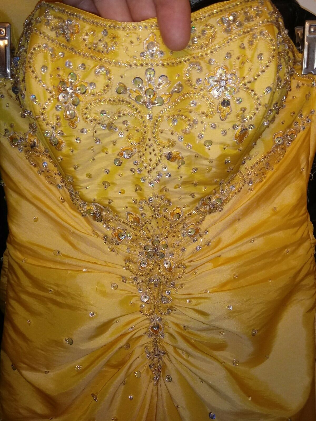 ~Size Medium Golden Yellow Gown Drag Queen Pageant Competion Prom Formal