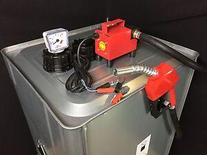 roth diesel tank 1000 liter hof tankstelle mit pumpe 12v bauhof landwirtschaft ebay. Black Bedroom Furniture Sets. Home Design Ideas