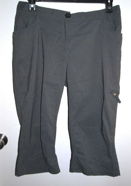 Stephanie Phillips Performance Size Large (34x19) Womens Gray Capris