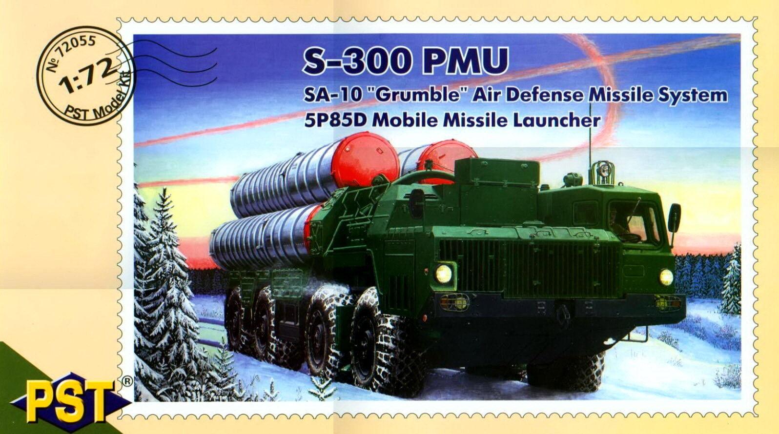 PST 1  72 72055 S -300 PMU bilen Air Defence Missile Stkonster Typ 5P85D