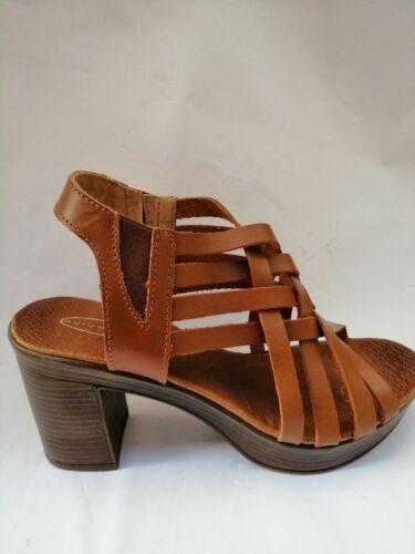 Sandales Femmes  Nu-Pieds Cuir Marron Chaussures Mode  Printemps été neuves