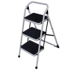 3 Steps Ladder Folding Handrails Grip Iron Step Stool Heavy Duty Industrial