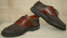 G.H. BASS & Co.  MEN'S DRESSPORTS by ROCKPORT TWO TONE BROWN SADDLE OXFORD SHOES