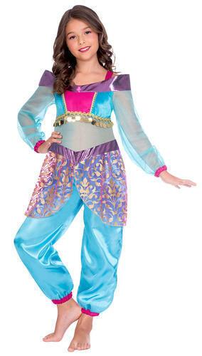 Arabian Robe FANTAISIE Fille Conte de Fée ventre jasmin danseuse Princesse Disney Costume