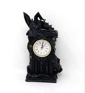 Duelling-Dragon-Clock-Nemesis-Now-Orologio-Duello-Drago-Statua-fantasy-NOW114