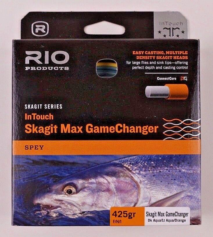 Rio Skagit Max Juegochanger 425gr F H I dk Aqua LT Aqua Naranja Envío Gratuito 6-19144