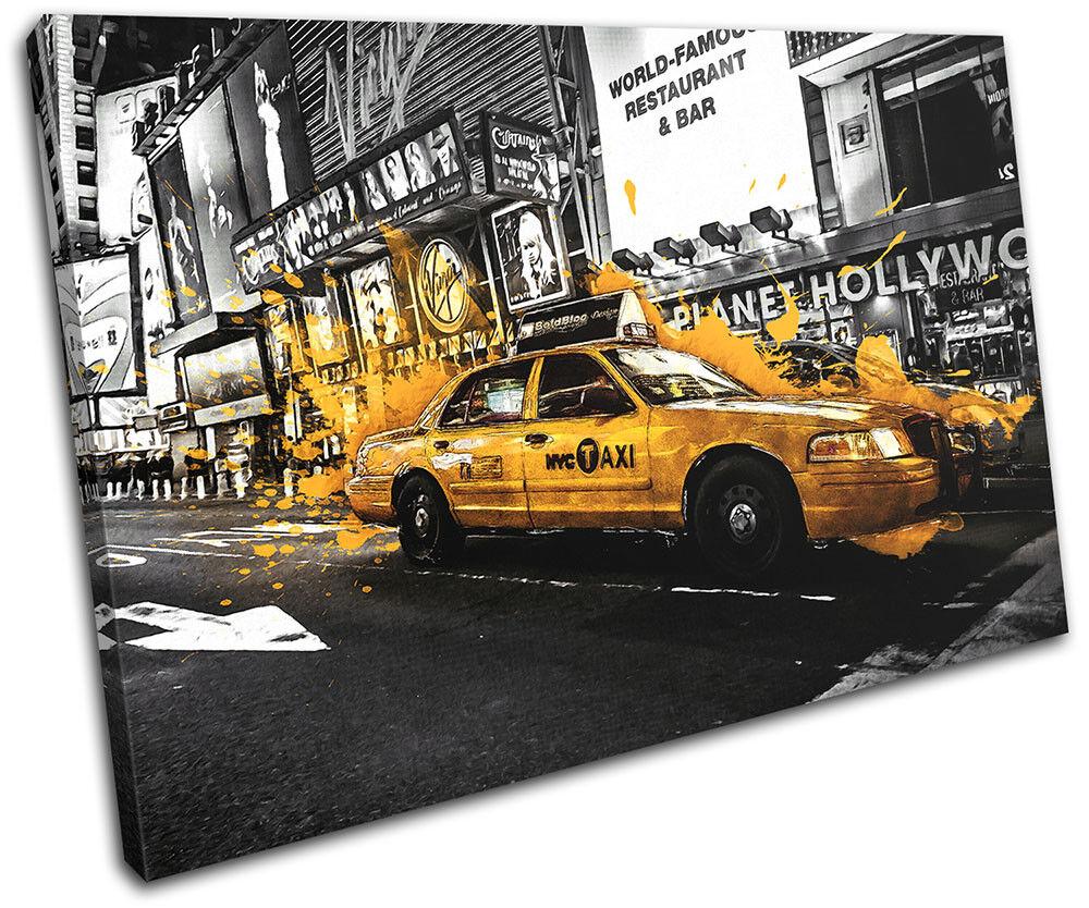 giallo Taxi Cab Car New York York York  NYC City SINGLE TELA parete arte foto stampa 310212
