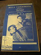 Partition Bella Castagnetta Duo Nicoli Passérieux et Lanzone Music Sheet