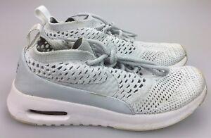 b848f109b7c1a Nike Air Max Thea Ultra Flyknit Grey White Sneaker 881175-002 ...