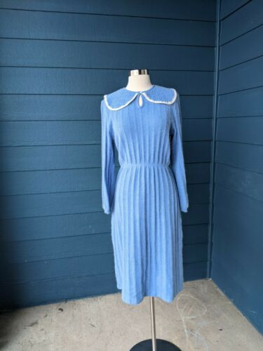 Vintage 1930s Style Angora Sweater Dress