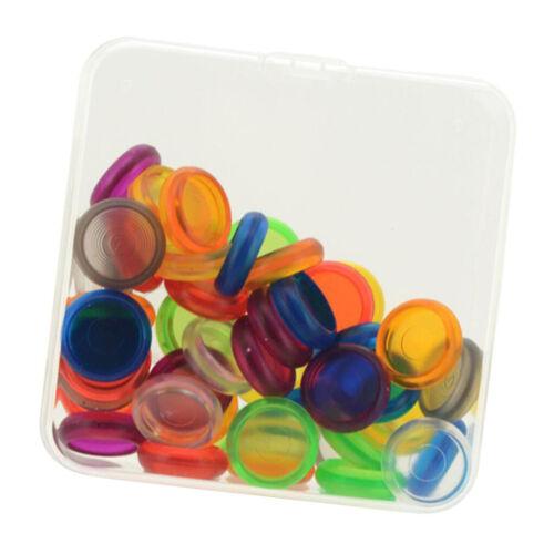 50 Lot 18mm Plastikscheiben Binding Mushroom Hole Ring DIY Schreibwaren Accs
