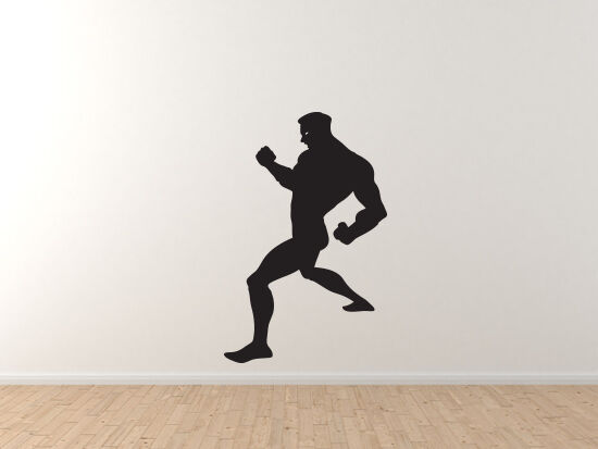 Comic Book Style - Super Hero Silhouette Power Pose Version 6 - Vinyl Wall Decal